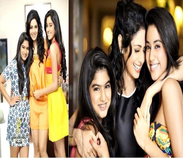 मुली - जान्हवी आणि खुशीसोबत अभिनेत्री श्रीदेवी - Divya Marathi