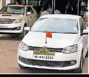 आरटीओची सोलापूर विद्यापीठाला नोटीस, गाडीवर दिवा लावण्याची नाही परवानगी सोलापूर,Solapur - Divya Marathi