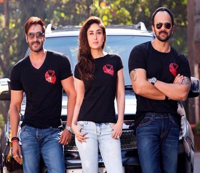 'सिंघम रिटर्न्स'मध्ये अजय देवगण आणि करीना मेन लीडमध्ये आहेत. तर रोहित शेट्टी या सिनेमाचा दिग्दर्शक आणि निर्माता आहे. - Divya Marathi