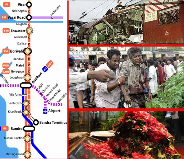11 मिनिटे, 7 स्फोट आणि 188 ठार, पाहा मुंबई लोकलमधील साखळी स्फोटांचे PHOTO|मुंबई,Mumbai - Divya Marathi