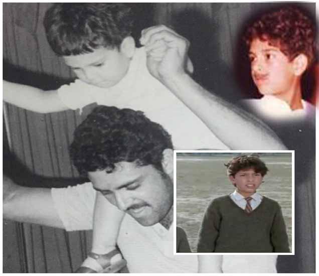 काही दिवसांपूर्वी युराजच्या एका मित्राने त्याचा हा फोटो सोशल मेडियावर शेअर केला होता. ज्यात तो वडिलांच्या खांद्यावर बसलेला आह. वरच्या बाजूला युवीचा एका कार्यक्रमातील फोटो आहे, तर  खालच्या बाजूला इंसेटमध्ये त्याचा लहानपनचा फोटो... - Divya Marathi