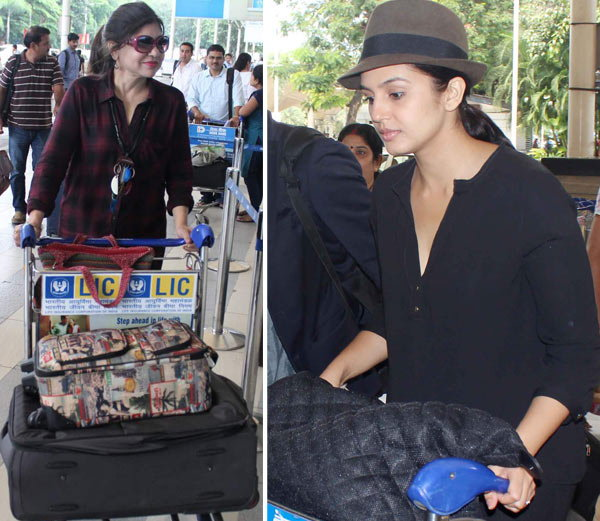 दीपिकाने बॉयफ्रेंडला दिला Good-Bye Kiss, एअरपोर्टवर दिसले अनेक सेलेब्स| - Divya Marathi
