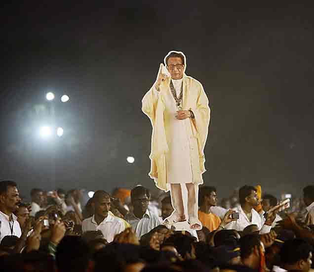 दिवंगत शिवसेनाप्रमुख बाळासाहेब ठाकरेंचा पुतळा; सर्वपक्षीयांचा पाठिंबा|मुंबई,Mumbai - Divya Marathi
