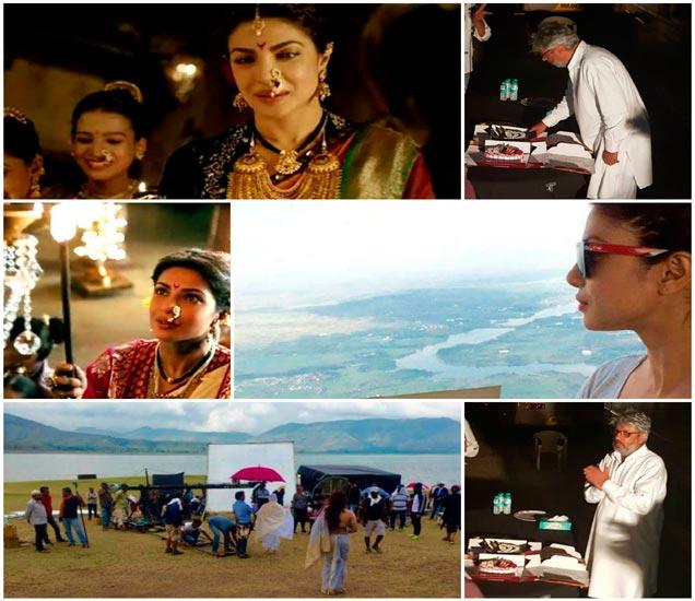 Thanx Giving party: बाजीराव-मस्तानीच्या काशीबाईचे झाले Pack-up, प्रियंका चोप्राने दिली पार्टी|देश,National - Divya Marathi