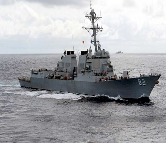संघर्षाला तोंड : अमेरिकेने दक्षिण चीन सागरात पाठवली युद्धनौका विदेश,International - Divya Marathi