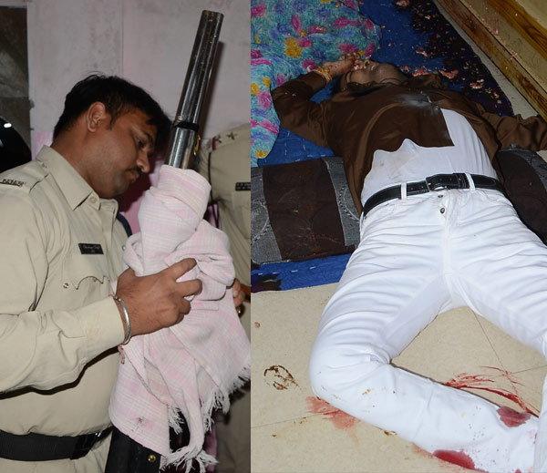 घटनास्थळावरुन पोलिसांनी 12 बोअरची बंदूक जप्त केली. लाला त्रिपाठीने एका घरात लपण्याचा प्रयत्न केला. पण गुडांनी घरात घुसून त्याची हत्या केली. - Divya Marathi