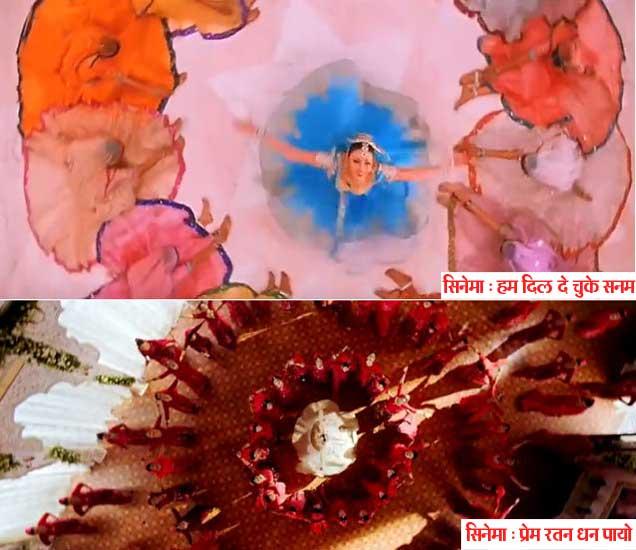 (\'हम दिल दे चुके सनम\' या सिनेमात ऐश्वर्या, (खाली) -  \'प्रेम रतन धन पायो\'मध्ये सोनम कपूर) - Divya Marathi