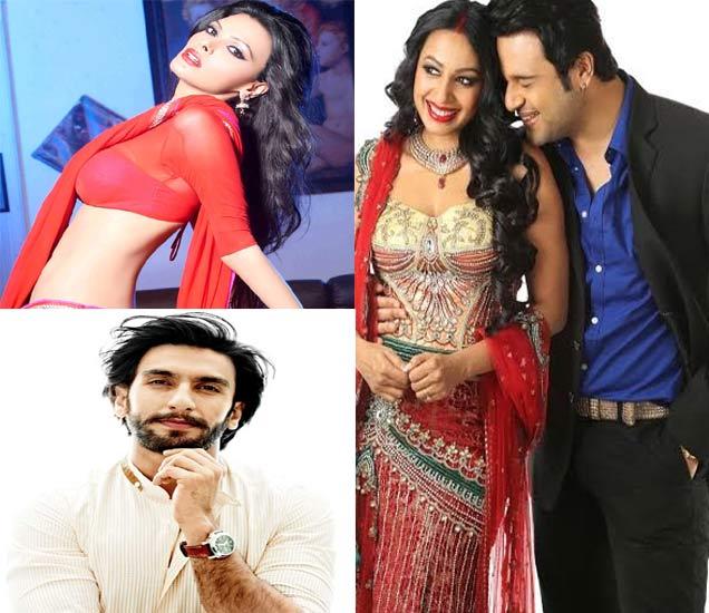फाइल फोटोः डावीकडे (वर) - शर्लिन चोप्रा, (खाली) - रणवीर सिंग, उजवीकडे - कृष्णा अभिषेकसोबत कश्मिरा शाह - Divya Marathi