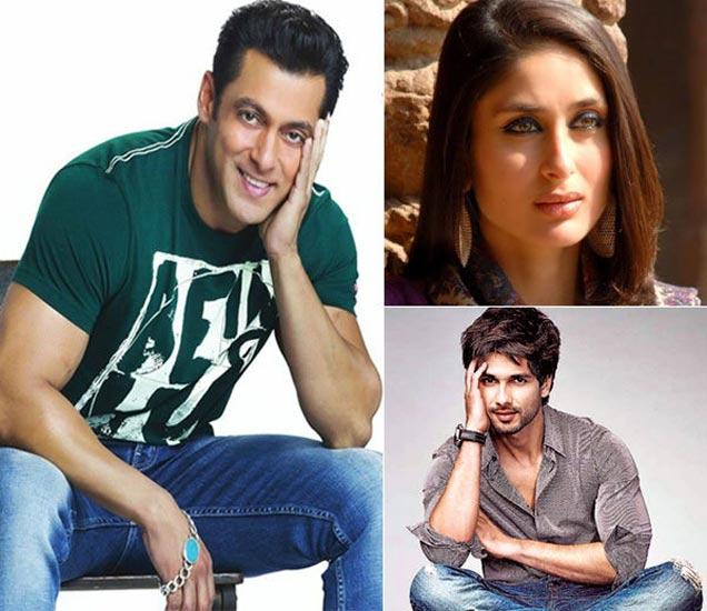 फाइल फोटोः सलमान खान, करीना कपूर खान, शाहिद कपूर - Divya Marathi