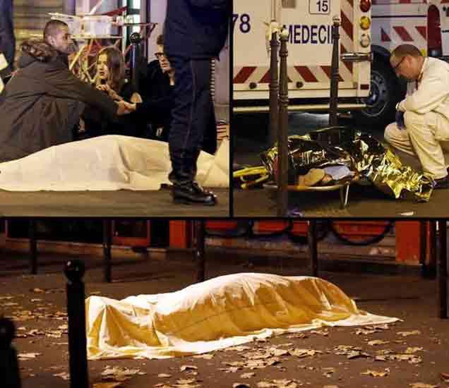 पॅरिसच्या रस्त्यांवर मृतदेह पडले आहेत. - Divya Marathi