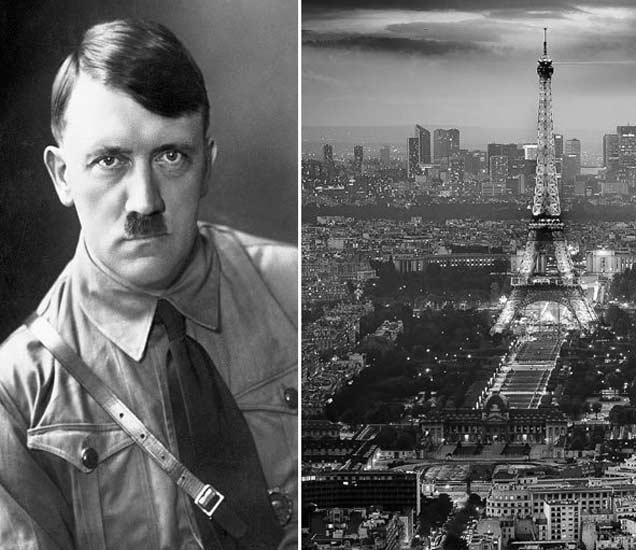 फाइल फोटो - हिटलर आणि पॅरिस शहर. - Divya Marathi