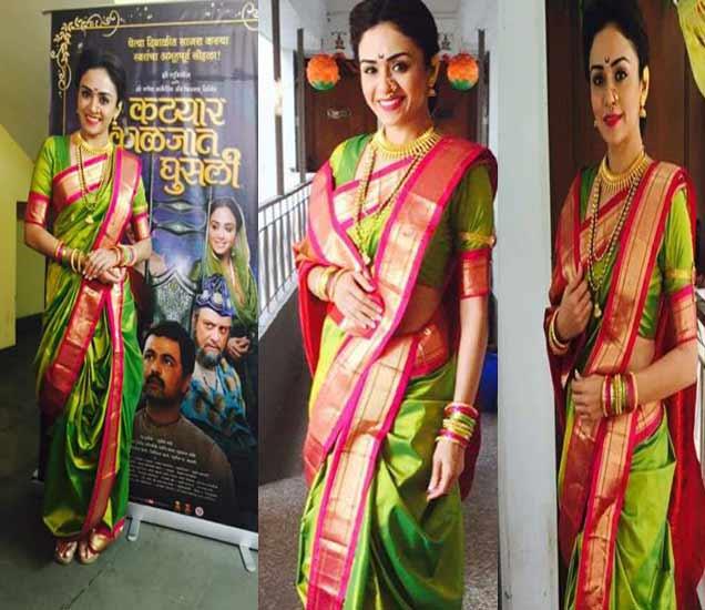 अभिनेत्री अमृता खानविलकर हिचा मराठमोळा अंदाज - Divya Marathi