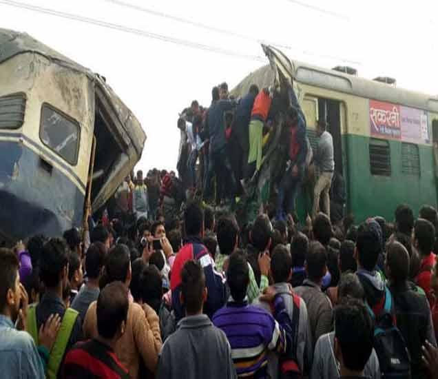 हरियाणातील पलवल येथे झालेल्या दुर्घटनेचा हे छायाचित्र सोशल मीडियावर शेअर झाले आहे. - Divya Marathi