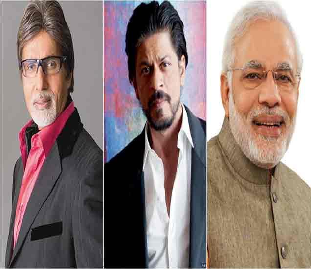 टि्वटरवर अमिताभ, शाहरुखपेक्षा मोदी मागे,  सर्वाधिक फॉलोअर्सच्या यादीत तिसऱ्या स्थानी|देश,National - Divya Marathi