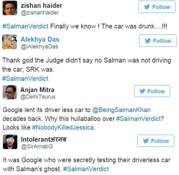 #SalmanVerdict: सलमान अखेर सुटला, चाहत्यांनी कारला ठरवले दोषी!| - Divya Marathi