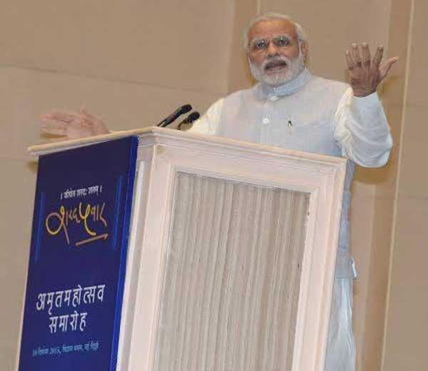 शरद पवार यांच्या अमृतमहोत्सवी वाढदिवस समारंभात नवी दिल्लीत गुरुवारी सायंकाळी बोलताना पंतप्रधान नरेंद्र मोदी... - Divya Marathi