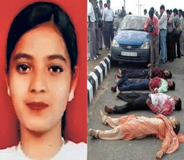 इशरत जहाँ (इनसेट) व चकमकीत मारले गेलेले ते चार दहशतवादी - Divya Marathi