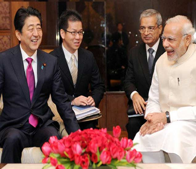 नरेंद्र मोदी - जपानी पीएम अॅबे यांच्यात १४ करार, जपान उभारेल बुलेट ट्रेन जाळे|देश,National - Divya Marathi
