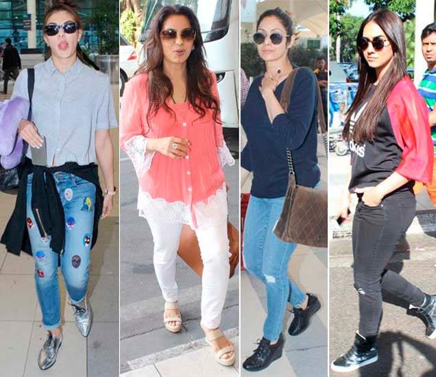 Spotted: जॅकलीन, श्रीदेवी आणि लॉरेनसह एअरपोर्टवर दिसले हे सेलेब्स|देश,National - Divya Marathi
