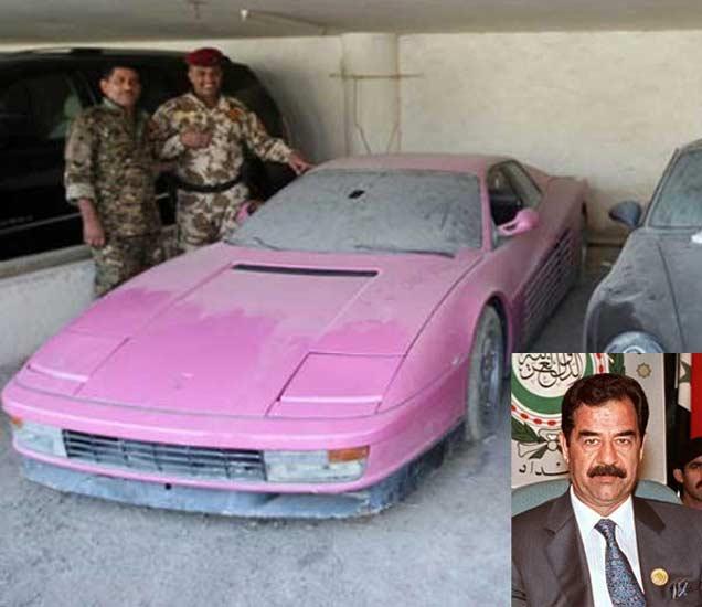 फाइल फोटो : उदय सद्दाम हुसेनच्या कारसह अमेरिकेचे सैनिक. - Divya Marathi
