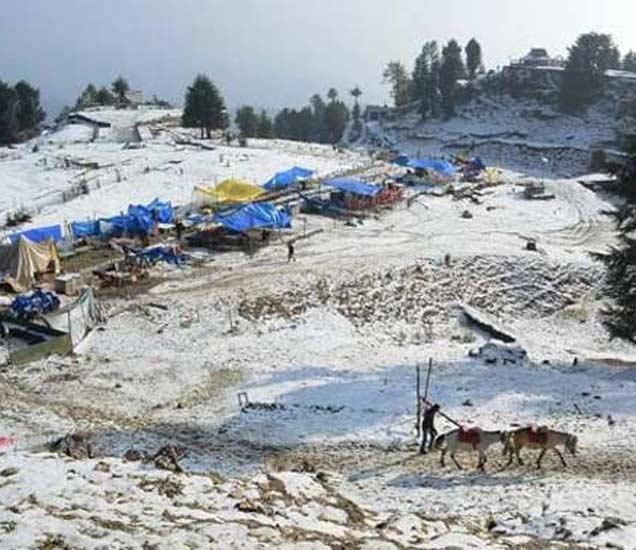 हिमाचल प्रदेशामध्ये झालेली हिमवृष्टी - Divya Marathi