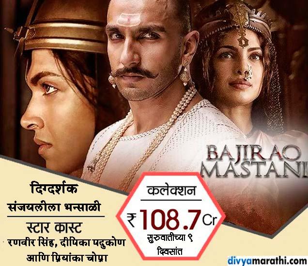 100 कोटींच्या पार गेला 'बाजीराव...', 2015मध्ये या क्लबमध्ये पोहेचले हे 7 सिनेमे|देश,National - Divya Marathi