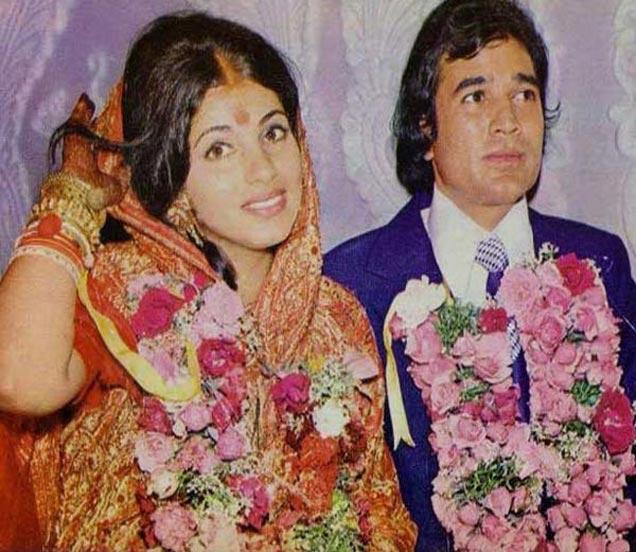 राजेश खन्ना आणि डिंपल यांच्या लग्नातील खास क्षण. - Divya Marathi
