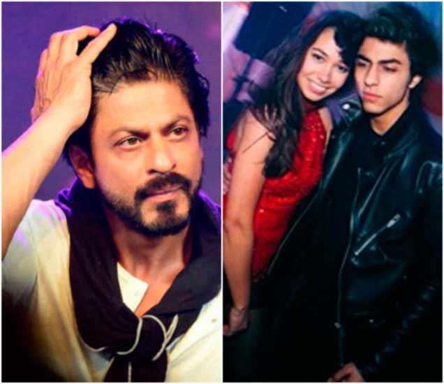 शाहरुख आणि दूस-या फोटोमध्ये मिस्ट्री गर्ल, तिच्यासोबत आर्यन अलीकडेच ग्रॅज्युएशन पार्टीदरम्यान दिसला होता. - Divya Marathi