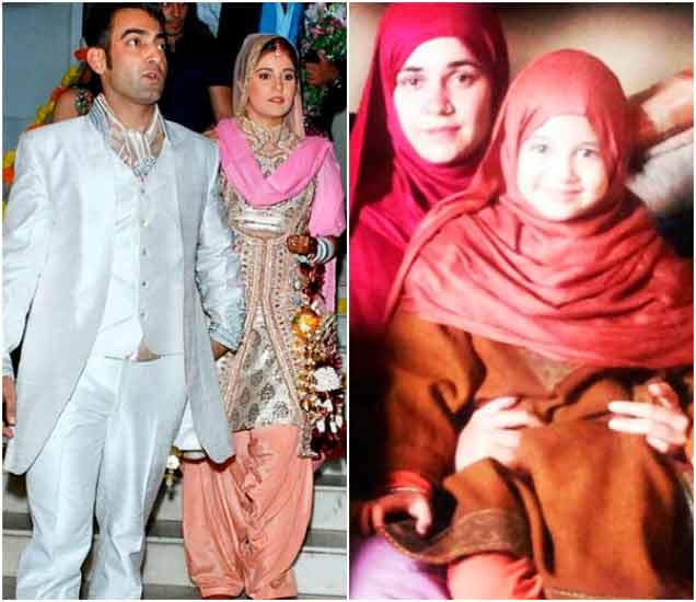 पती मानव विज आणि हर्षाली मल्होत्रासोबत मेहर विज - Divya Marathi