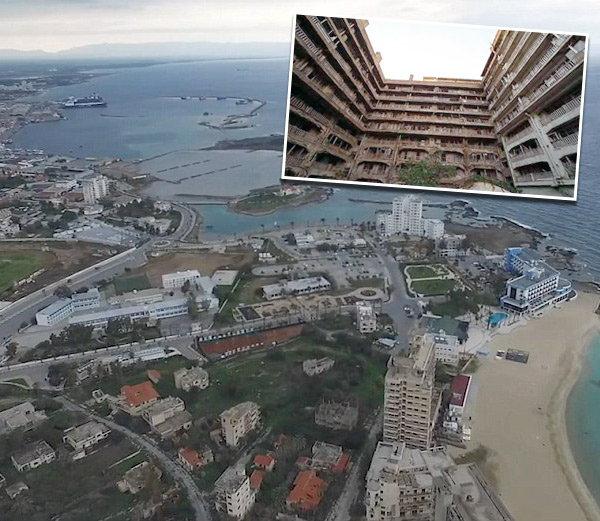 सायप्रसचे वरोशा शहर निर्मनुष्य बनले आहे. - Divya Marathi