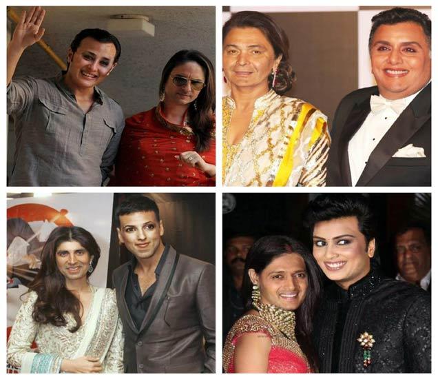 छायाचित्रेः उजवीकडे (वर) - सैफ आणि करीना कपूर, (खाली) - अक्षय कुमार आणि ट्विंकल खन्ना, डावीकडे (वर) - ऋषी कपूर आणि नीतू सिंग, (खाली) - जेनेलिया आणि रितेश देशमुख - Divya Marathi