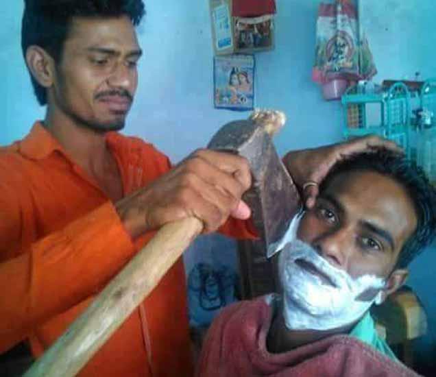 FUNNY: करायची का दाढी, पाहा एकापेक्षा एक जुगाडूंचे शोध| - Divya Marathi