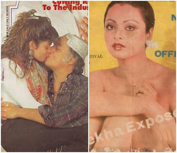 1994 मध्ये महेश भट्ट आणि पुजा भट्ट. दुसऱ्या फोटोत 1979 मध्ये एक्सपोज करताना रेखा. - Divya Marathi