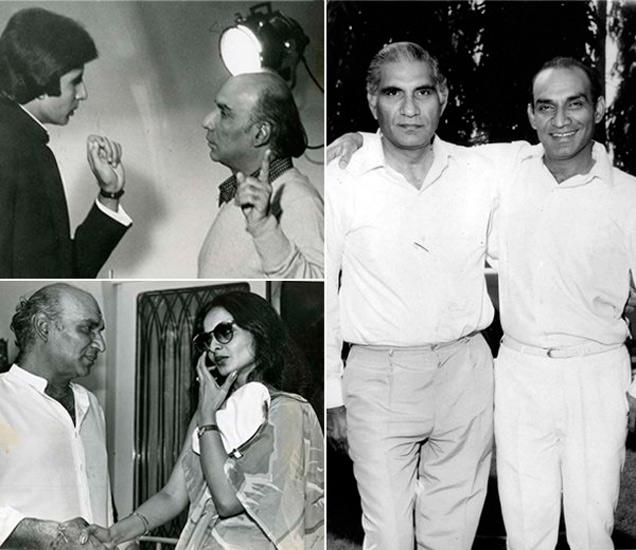 अमिताभ बच्चन, रेखा, बी.आर. चोप्रांसोबत यश चोप्रा - Divya Marathi