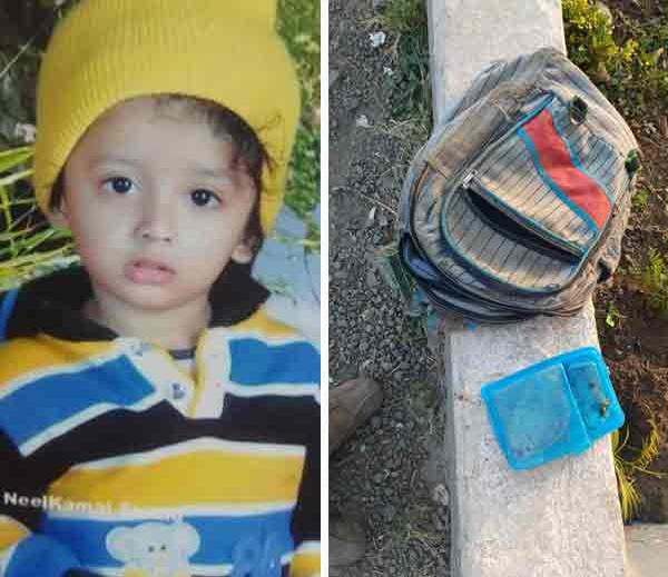 या चिमुकल्याचा या अपघातात मृत्यू झाला. त्याचे दप्तरही हायवेवर फेकून दिले. - Divya Marathi