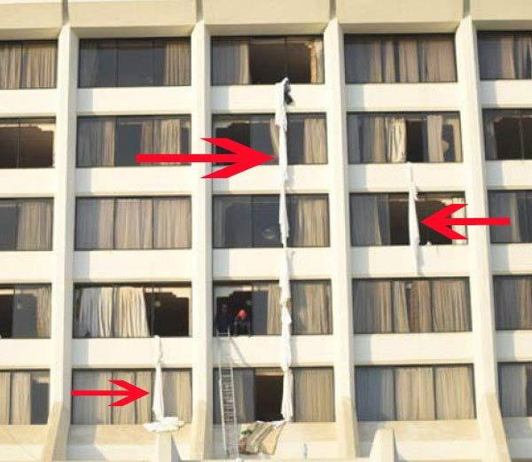 कराचीतील रिझेंट प्लाझा या 5 स्टार हॉटेलला लागलेली आग.. - Divya Marathi