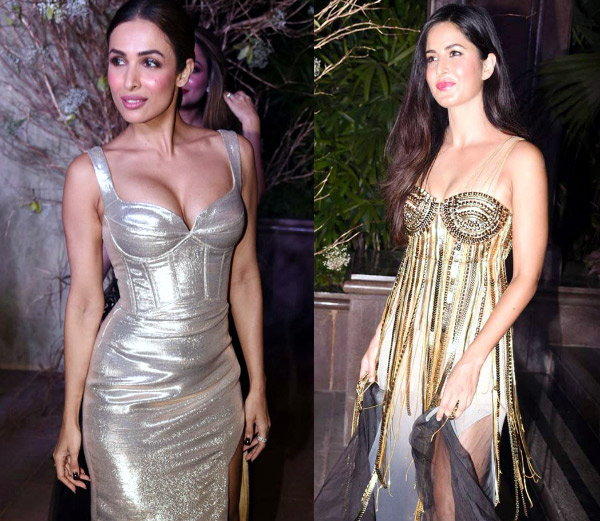 डिझायनर मनीष मल्होत्राच्या पार्टीत असा ड्रेस परिधान करून पोहोचल्या मलायका अरोरा आणि कतरिना. - Divya Marathi