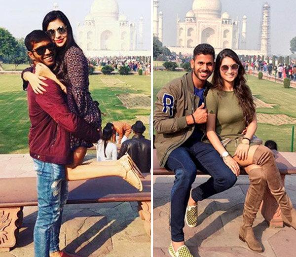 क्रिकेटर्स मनोज तिवारी आणि अशोक डिंडा पत्नीसमवेत व्हॅकेशन एन्जॉय करण्यासाठी आग्रा येथे पोहचले. - Divya Marathi