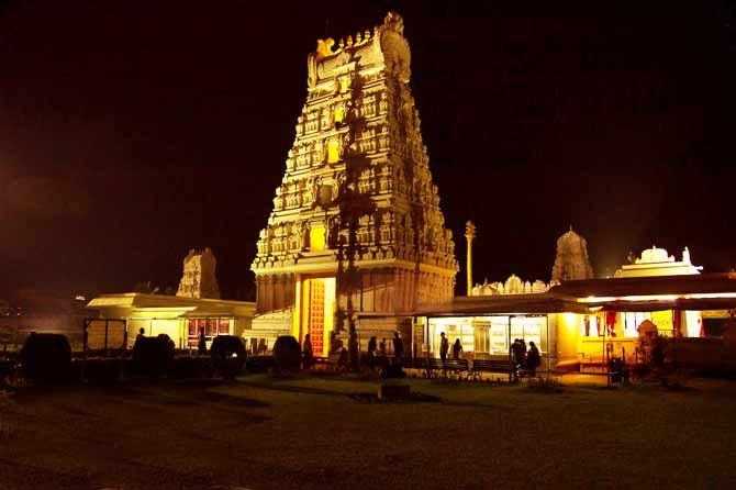 तिरुपती मंदिरातील अधिकाऱ्याने दिलेल्या माहितीनुसार दरवर्षी येथे 1000 कोटींपेक्षा अधिक रोख रक्कम देणगी स्वरुपात मिळते. (फाइल) - Divya Marathi