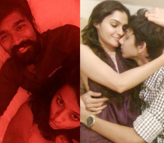 धनुष आणि त्रिशा, दुस-या फोटोत एंड्रियासोबत अनिरुद्ध रविचंदर - Divya Marathi