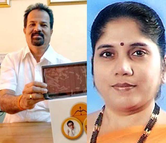 शिवसेनेचे महापौर आणि उपमहापौरपदाचे उमेदवार. - Divya Marathi