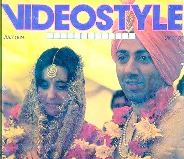सनी देओलच्या लग्नाचे हे छायाचित्र इंटरनेटवर उपलब्ध आहे. - Divya Marathi