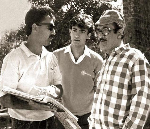 'कयामत से कयामत तक'च्या सेटवर मन्सुर खान, आमिर खान आणि नासिर हुसैन - Divya Marathi