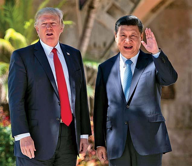 अमेरिका,चीनच्या राष्ट्रप्रमुखांनी शनिवारी मीडियाशी संवाद साधला. - Divya Marathi