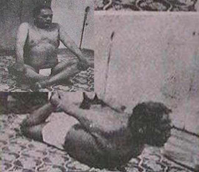 व्यायाम करतानाचा डॉ. बाबासाहेब आंबेडकरांचा हा दुर्मिळ फोटो आहे. इन्सेटमध्ये योगा करताना बाबासाहेब. - Divya Marathi