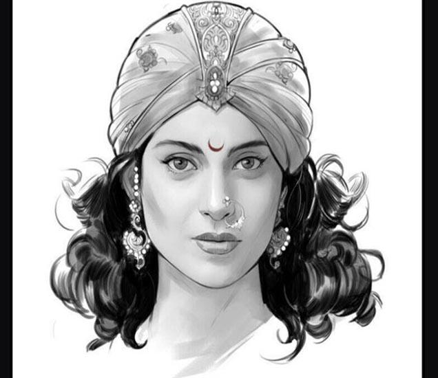 राणी लक्ष्मीबाईच्या रुपात कंगना राणावत - Divya Marathi