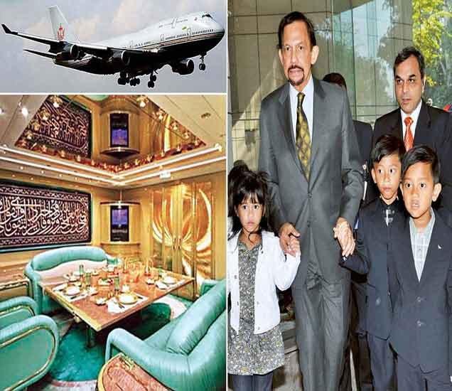 ब्रुनेईचा सुलतान आणि गोल्ड प्लेटेड विमानाचे अंतर्गत दृश्य... - Divya Marathi