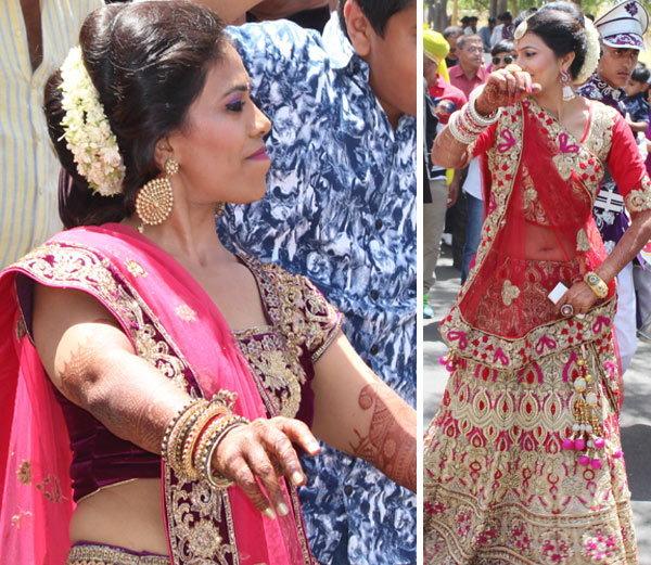 लग्नात डान्स करताना जडेजाच्या बहिणी नयना आणि पद्मिनी (उडवीकडील). - Divya Marathi