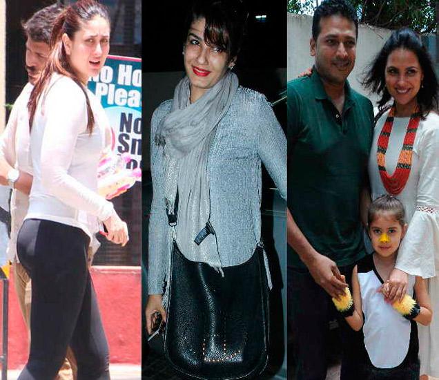 करीना कपूर, रवीना टंडन आणि पती महेश भूपती-मुलगी सायरासोबत लारा दत्ता - Divya Marathi