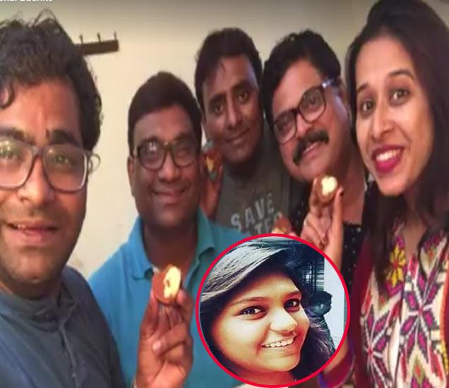 चला हवा येऊ द्याच्या टीमसोबत भाऊ कदम, इनसेटमध्ये भाऊ कदम यांची मुलगी मृण्मयी - Divya Marathi